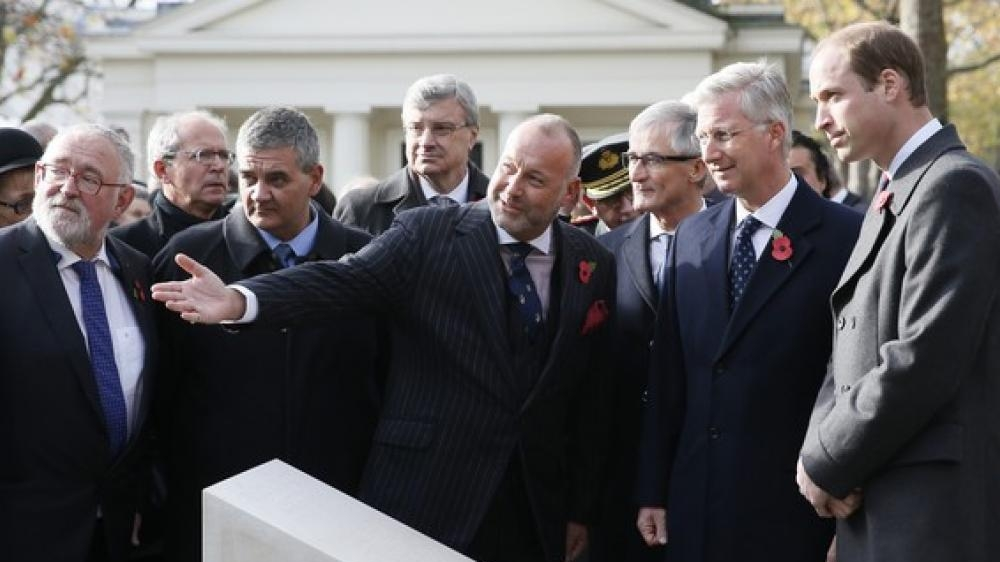 Opening Flanders Fields Memorial Garden - King Filip, Duke of Cambridge