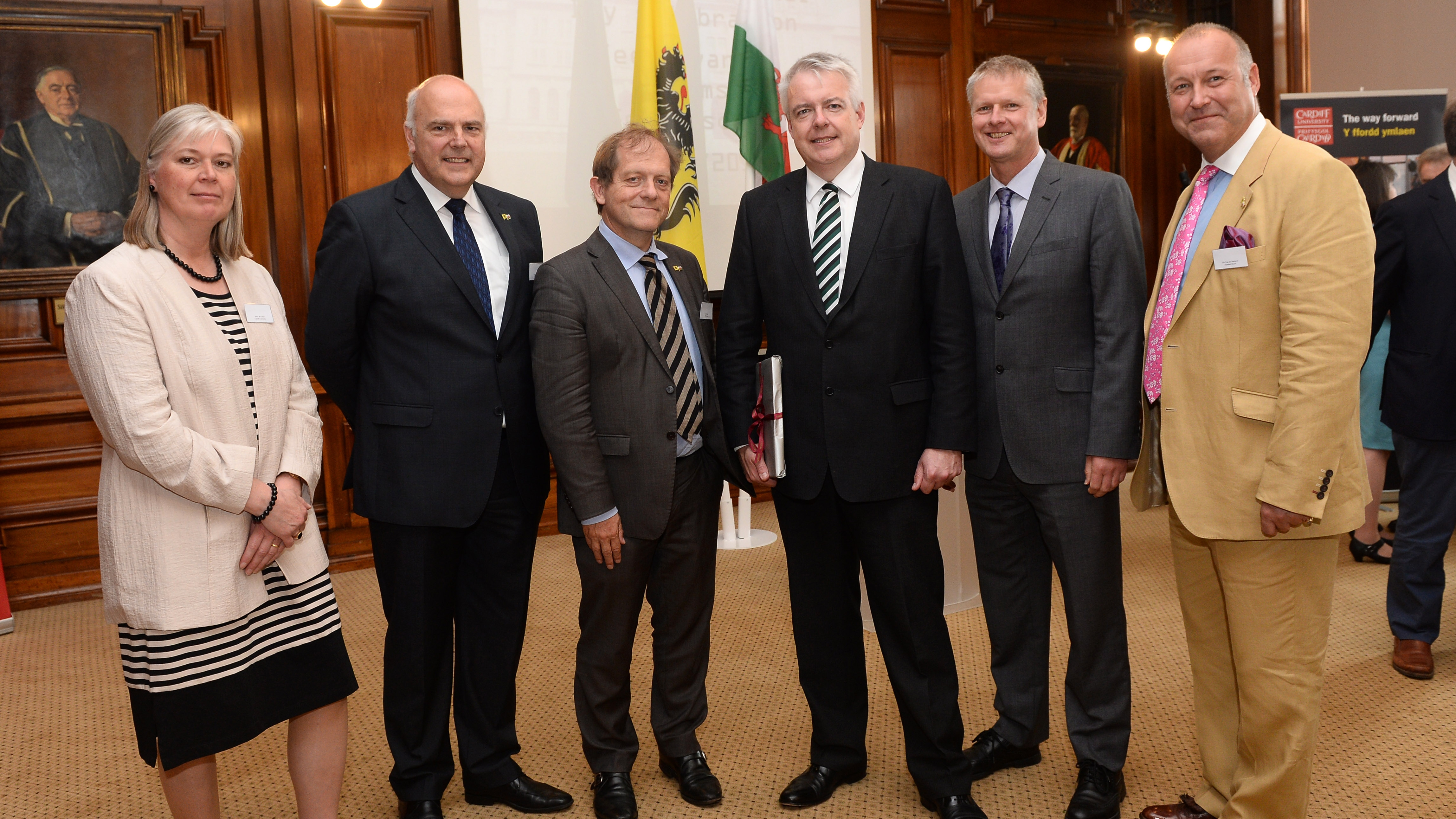 Leuven and Cardiff universities with Welsh First Minister